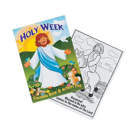 Fun Express - Holy Week Activity Pads for Easter - Stationery - Activity Books - Activity Books - Easter - 24 (Fun Activity Pad)
