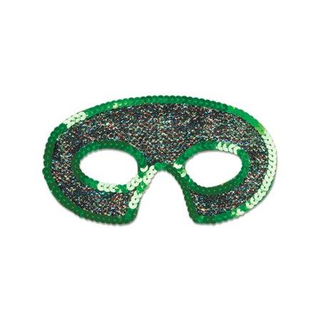 Green Phantom of the Opera Sequin Trimmed Eye Mask Costume Accessory - Phantom Of The Opera Accessories