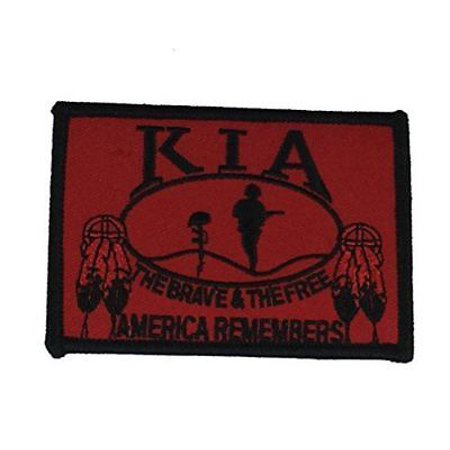 Native Americans Feathers - NATIVE KIA AMERICA REMEMBERS PATCH KILLED IN ACTION INDIAN INDIGENOUS FEATHERS