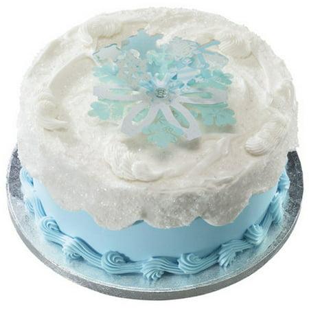 Snowflake Cake Decorations (Snowflake 3D Layon Cake/Cupcake Decoration Topper)