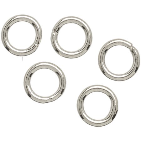 Plated Silver Metal Findings Closed Jump Ring, 4mm, 30pk