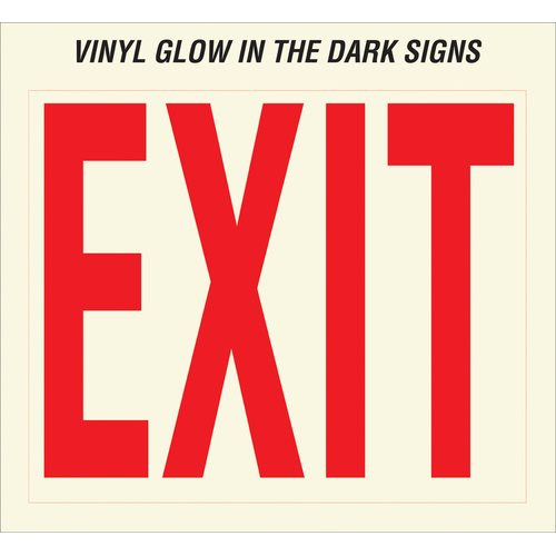 Hy-Ko Glow In The Dark Exit Sign (Set of 10)