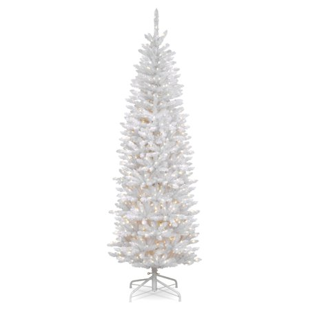 7.5 ft. Kingswood White Fir Pencil Tree with Clear