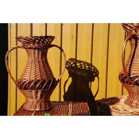 LAMINATED POSTER Rattan Brown Basket Crafts Braid Manual Labor Poster Print 24 x 36 ()