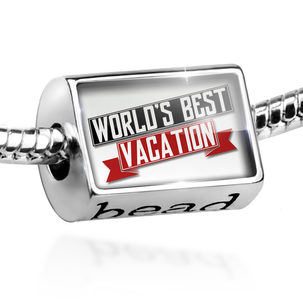 Bead Worlds Best Vacation Charm Fits All European Bracelets