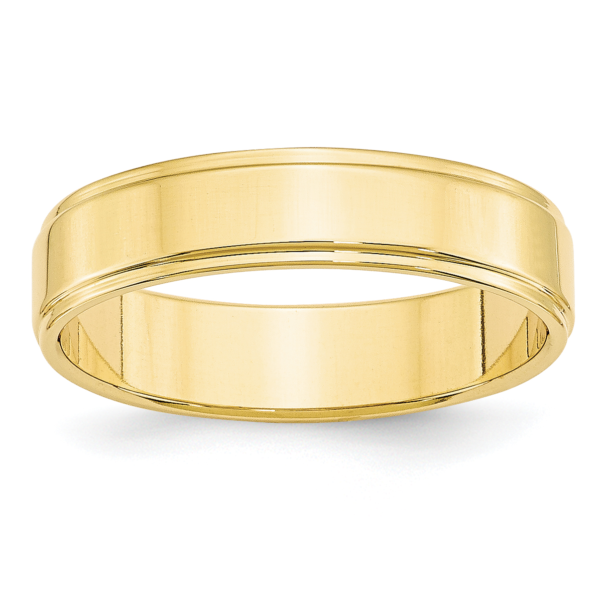 10K Yellow Gold 5mm Flat with Step Edge Band Size 4.5 - image 3 of 3