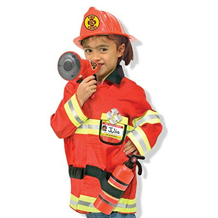 Melissa & Doug Fire Chief Role Play Costume Set (Role Play Outfit Ideas)