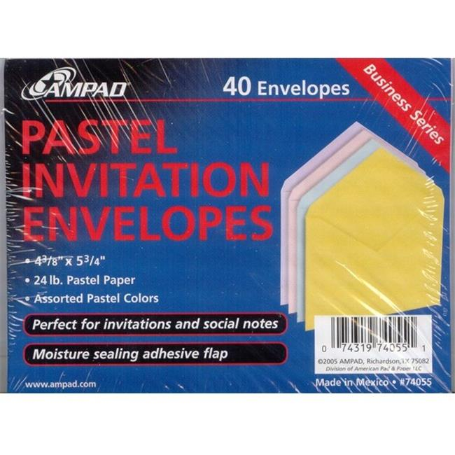 DDI 1301322 Pastel Invitation Envelopes Case Of 6