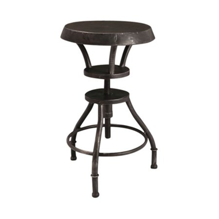 Lucian Adjustable Rustic Iron Top 31u0022 Barstool Black - Christopher Knight Home