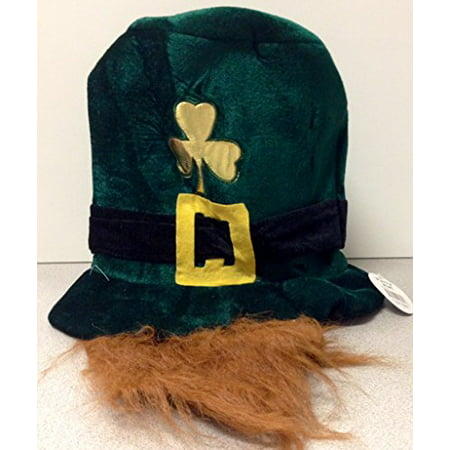 Leprechaun Hat with Beard Novelty St Patricks Day Theme