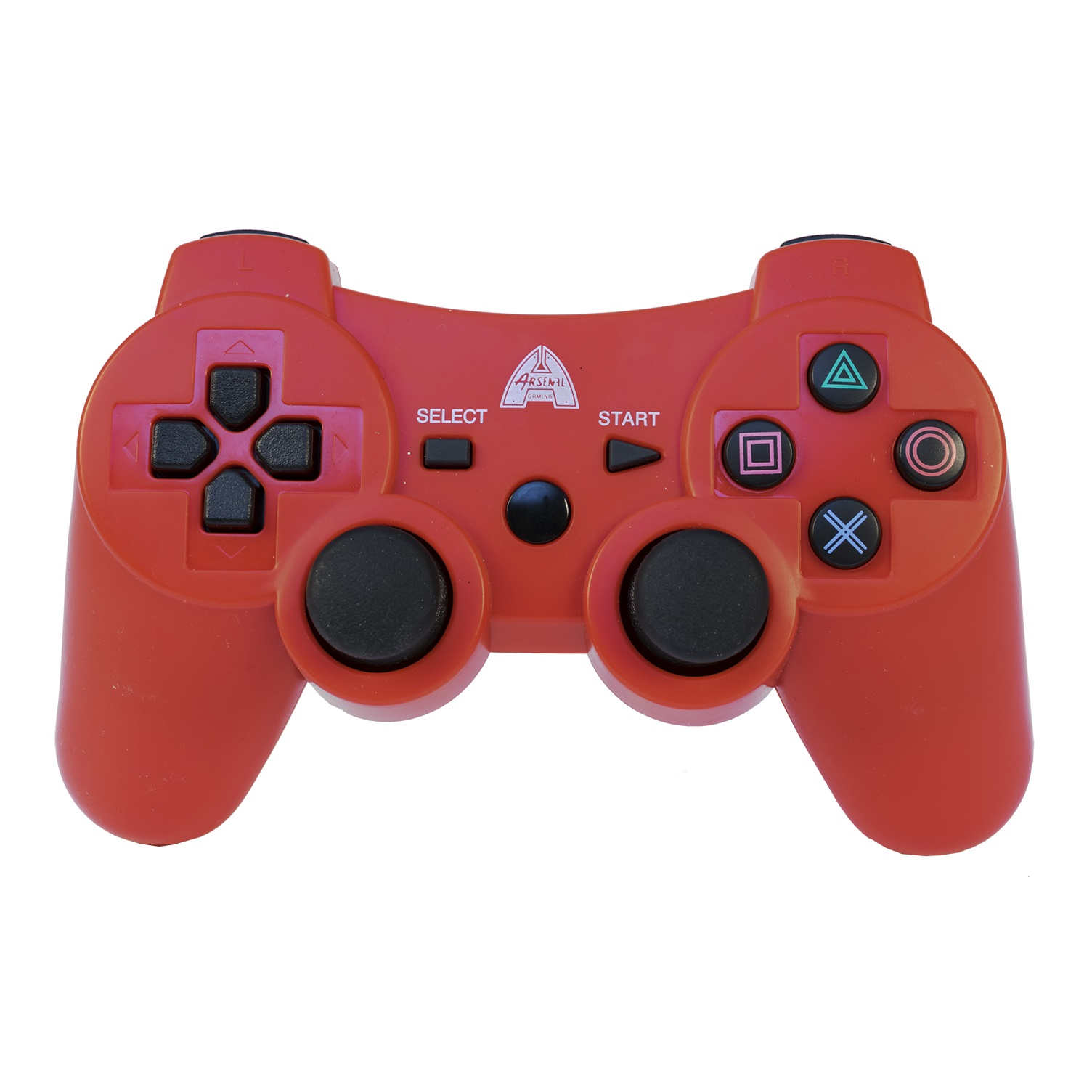 Arsenal Gaming AP3CON4R PS3 Bluetooth Controller Pro with Rechargeable Battery, Red (PS3)