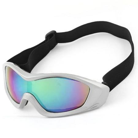 Adjustable Elastic Band Tinted Lens Wide Angle Ski Skate Goggles for Men Women ()