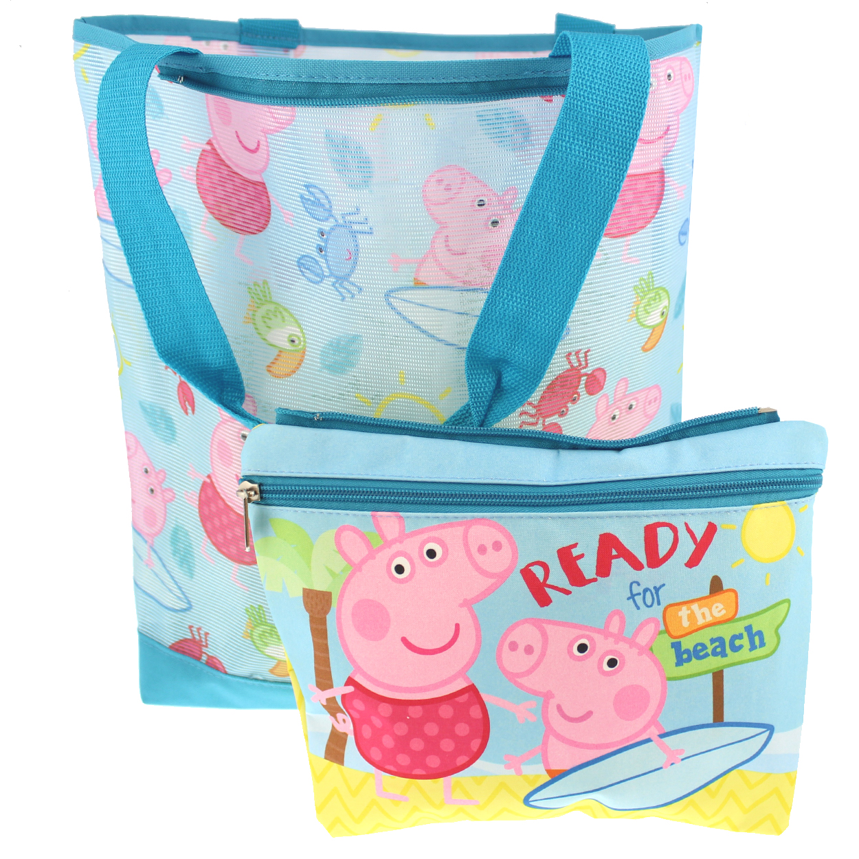 Peppa Pig Girl's Mesh Beach Tote with Removable Insulated Pouch S18PI38267