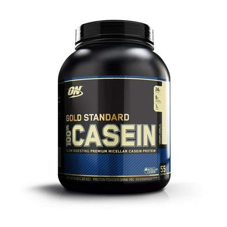 Optimum Nutrition Gold Standard 100% Casein Protein Powder, Creamy Vanilla, 24g Protein, 4