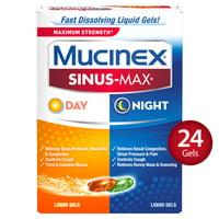 Mucinex Sinus-Max Maximum Strength Day and Night Liquid Gels - 24 Liquid Gels