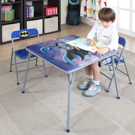 O'Kids Inc. Batman Kids' 3 Piece Square Table and Chair Set - Batman Chair