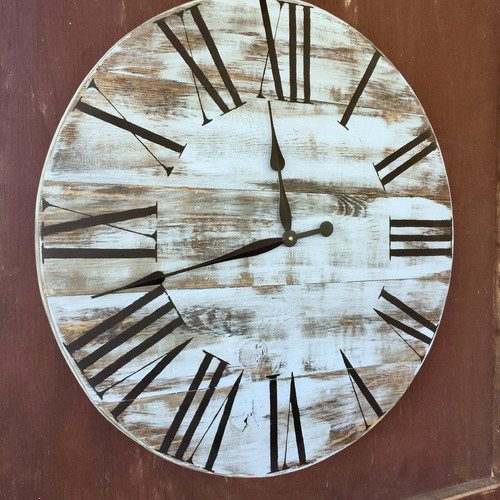 essex crafted wood products oversized 28 gregory painted wood wall clock walmart