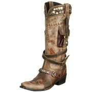 Lane Western Boots Womens Double D Ranch Frontier Trapper DD9004A