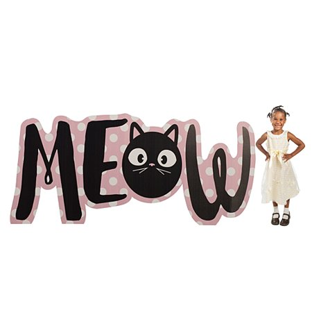 3 ft. 5 in. Kitty Cat Diva Meow Letters Standee - Cardboard Letters
