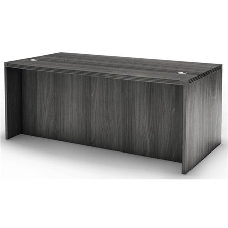 Mayline ARD7230LGS 72 in. Aberdeen Series Straight Front Rectangular Desk, Grey Steel