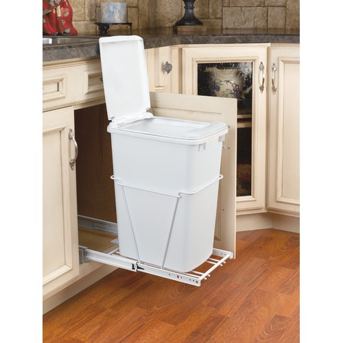 Rev-A-Shelf 8.75 Gallon Pull Out/Under Counter Pull Out/Under Counter Trash Can