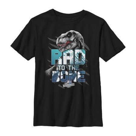 - jurassic world boys' rad to the bone t-shirt