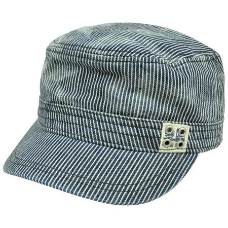 Train Conductor Newsboy Fatigue Military Style Stripes Stretch Band Fit Hat  Cap - Walmart.com c7acbe57c6a