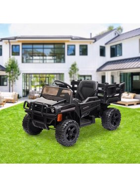UBesGoo 12V Kids Battery Powered Ride On Truck Electric Tractor Car Children's Best Toy Gift Astm-Certified