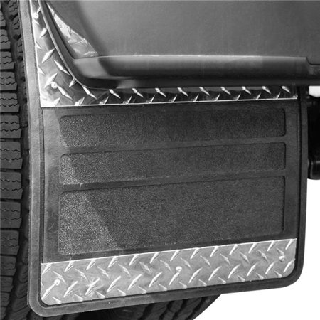 Owens 86RF099D 19 x 25 in. Classic Dually Rubber Mudflaps, Black