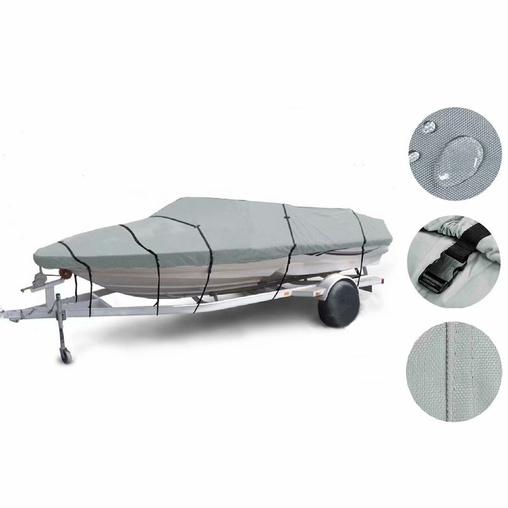 17-19ft 600D Oxford Fabric High Quality Waterproof Boat Cover with Storage Bag