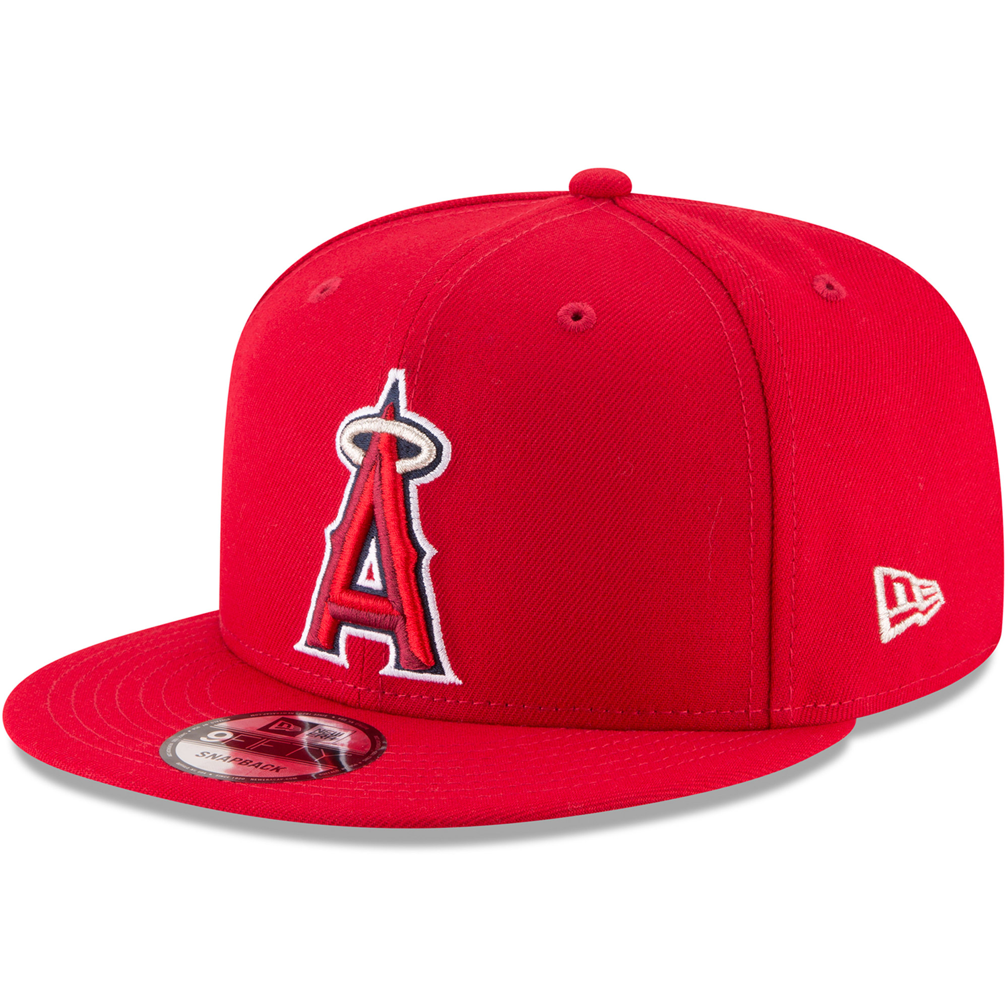 Los Angeles Angels New Era Team Color 9FIFTY Adjustable Hat - Red - OSFA