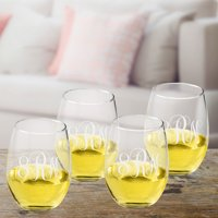 Personalized Stemless Wine Glass Se