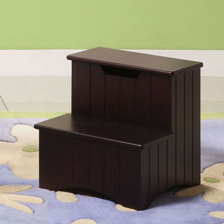 Inroom designs 2 step manufactured wood storage step stool In room designs