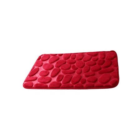 3D Simple Design Solid Water Absorption Rug Bathroom Mat Shaggy Memory Foam Bath Mat Kitchen Door Floor Mat - image 1 de 6