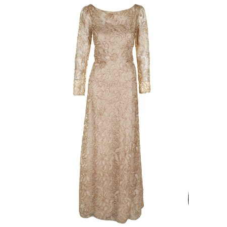 JS Collections Women's Embroidered Soutache Gown