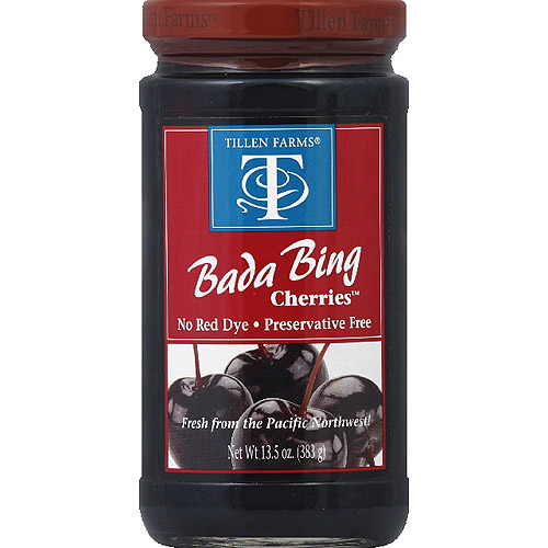 Tillen Farms Bada Bing Cherries, 13.5 oz, (Pack of 6)