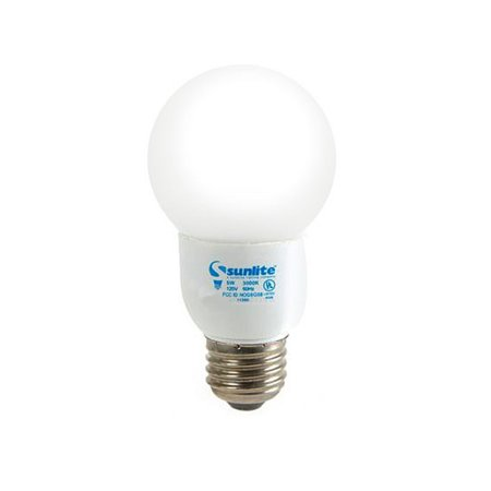 sunlite compact fluorescent 5w 3000k light bulb. Black Bedroom Furniture Sets. Home Design Ideas