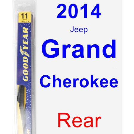 2014 Jeep Grand Cherokee Rear Wiper Blade - Rear