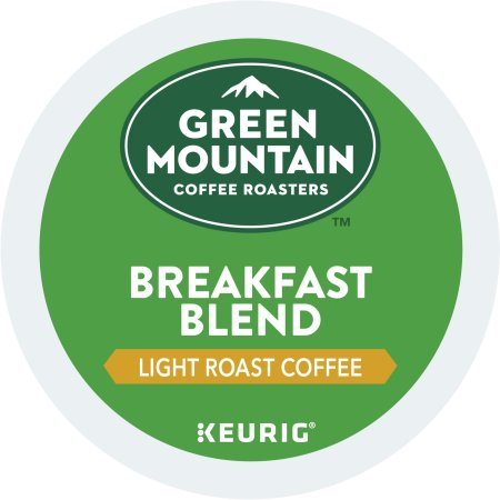 (4 Pack) Green Mountain Coffee Breakfast Blend, Keurig K-Cup Pods, Light Roast, 18 Count