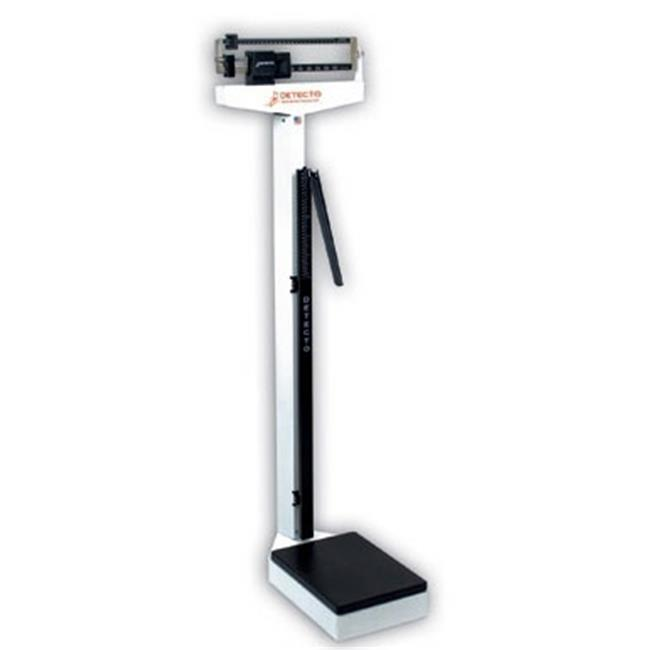Cardinal Scale-Detecto 339S 10.5 in. X 14.5 in. Platform Eye Level Physician Scale Stainless Steel 400 Lbs X 4... by Cardinal Scale Manufacturing Company