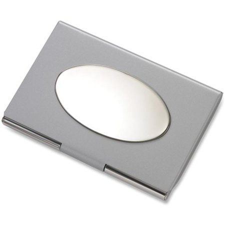 Silver Plated Card Case (Aeropen International CC-79 Silver Oval Plate Card Case )