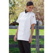 0478-2508 4Extra Large Tahoe Ladies Short Sleeve Chef Coat in White