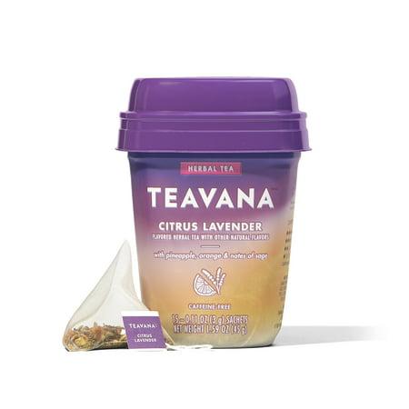 Teavana Citrus Lavender, Herbal Tea With Pineapple, Orange and Notes of Sage, 15 Sachets