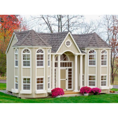 Little cottage 10 x 16 ft grand portico mansion wood for Little big house plans