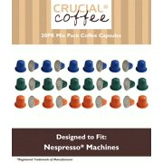 30 High Performance Replacement Coffee Capsules Variety Pack for Use in Most Nespresso Machines, The Morning Grind, Afternoon Hustle & The Closer are Designed & Engineered by Crucial Coffee
