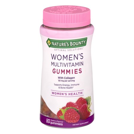 Nature's Bounty Women's Multivitamin Gummies, Raspberry, 80 (Best Gummy Vitamins For Women)