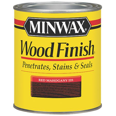 Dark Mahogany Stain - Minwax Woodfinish Red Mahogany 1/2-Pint
