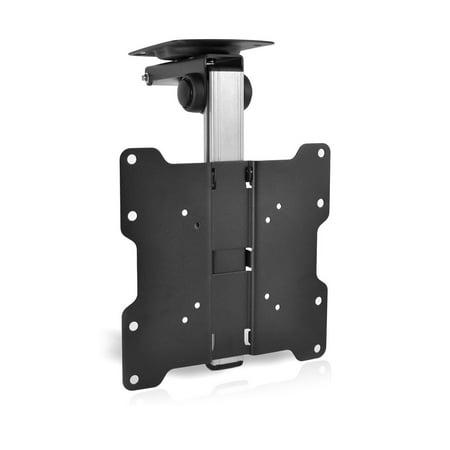 "37 Plasma Panel - PYLE PCMTV25 - Universal Folding Hide-Away TV Ceiling Mount Bracket Fits Virtually All 17"" - 37"