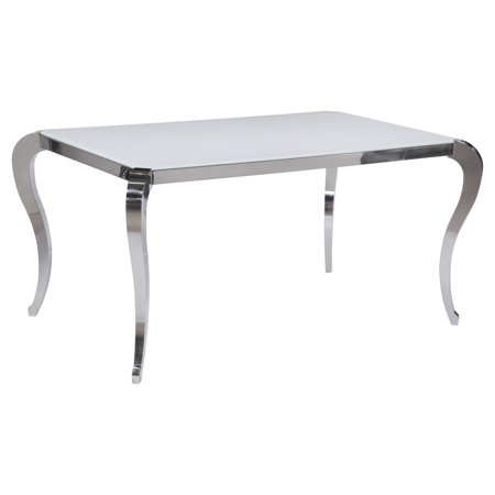 Chintaly Teresa Dining Table With Glass Top Walmartcom