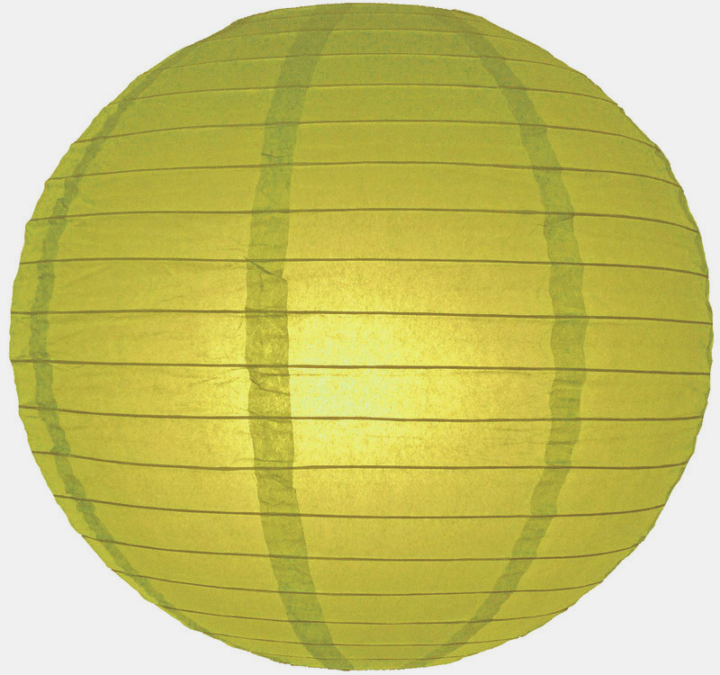"14"" Pear Round Paper Lantern, Even Ribbing, Hanging (Light Not Included)"